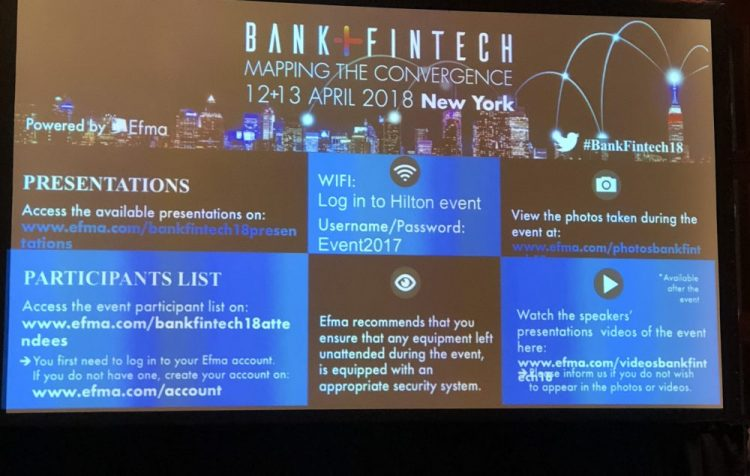Efma Conference & Fintech/Bank Partnerships